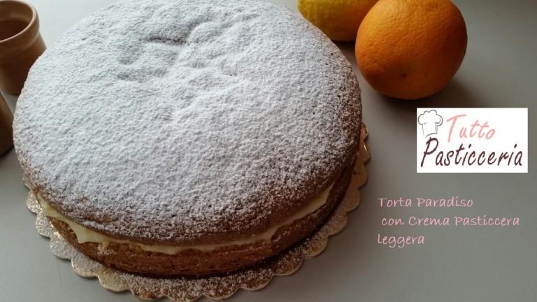 Torta Paradiso con Crema Pasticcera