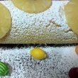 Rotolo all'ananas farcito con crema